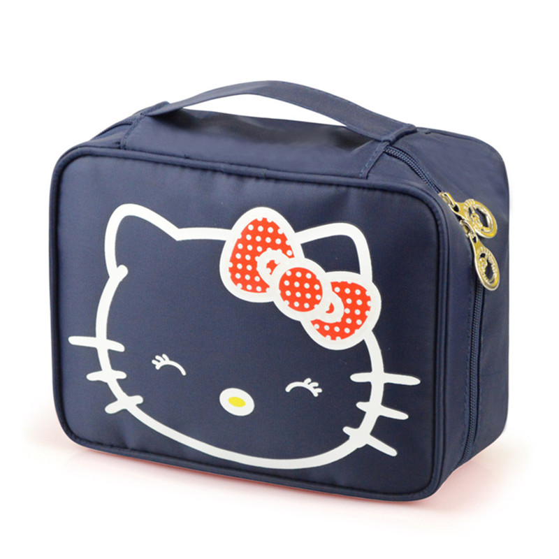 b277ed15e17c Detail Feedback Questions about Cartoon Hello Kitty Fashion Cosmetic Bags  Women Makeup Organizer Case Beauty Suitcase Pouch Vanity Cases Lipstick  Tote ...