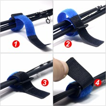 SAMS Reusable Fishing Rod Tie Holder Strap Suspenders Fastener Hook Loop Cable Cord Ties Fishing Tackle Box Accessories