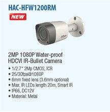 DAHUA Ip-камера Камеры Безопасности 2-МЕГАПИКСЕЛЬНАЯ 1080 P ИК Водонепроницаемый HDCVI Пуля Камера с Металлическим Корпусом с Фиксированным Объективом HAC-HFW1200RM