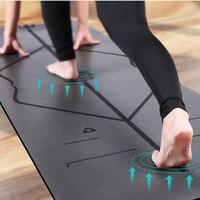 New Natural rubber PU professional sports fitness mat non slip yoga mat black large yoga mat