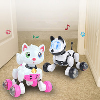 Voice Control Electronic Dog Cat Robot Smart Sounding Interactive Dance Sing Walking Puppy Action With Gesture
