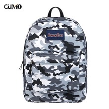 Ou Mo brand Camouflage laptop backpack Women schoolbag waterproof school Bag teenagers man computer feminina Backpack