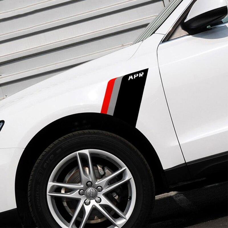APR Logo Three Stripes Car Fender Decor Sticker For BMW/VW