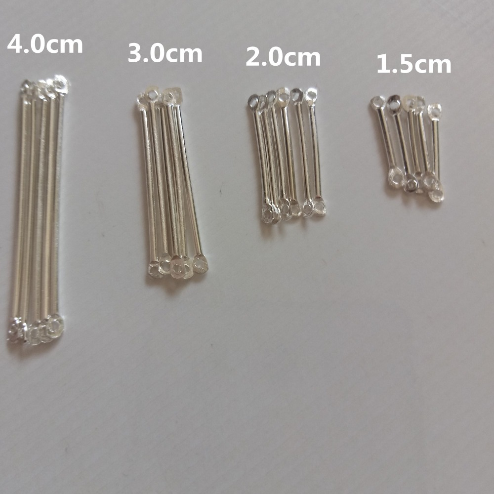 Wholesale 20pcs Double Hole 1.5/2.0/3.0/4.0cm Connectors Clasp Hooks Hanging Rod Handmade Earrings DIY Jewelry Accessories