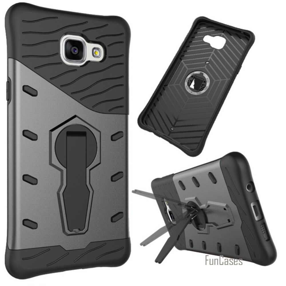 New For Samsung Galaxy A5 2016 Case Handsome Rotating Bracket PC+ TPU For Samsung A510 Phone Back Case 5 Color Dirt-resistant