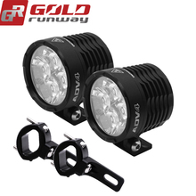 GOLDRUNWAY GR ADV4 motorcycle auxiliary lights 12V 32W motorbike led spot/flood fog lamp Autocycle 6000K 3800lm headlamp
