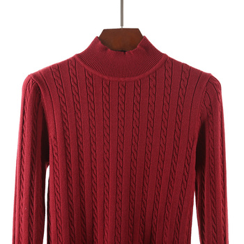 High Quality Thick Cashmere Sweater Women Winter Pullover Vintage Knitted Sweater Top for Women Autumn Female Turtleneck Sweater