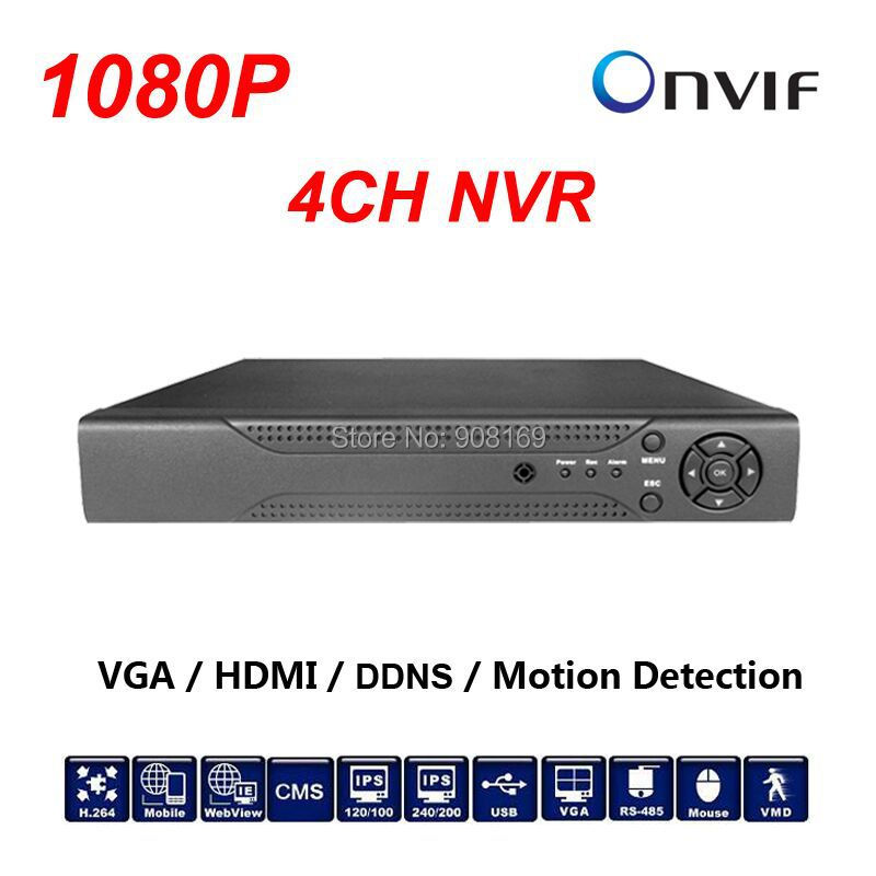 ФОТО Good quality CCTV 4CH NVR Onvif H.264 HDMI High Definition 1080P Full HD 4 channel Network Video Recorder For IP Camera system