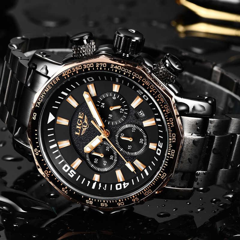 Relogio Masculino 2018 חדש ליגע אופנה מותג Mens שעונים מלא פלדה עסקי קוורץ שעון צבאי ספורט עמיד למים שעון גברים