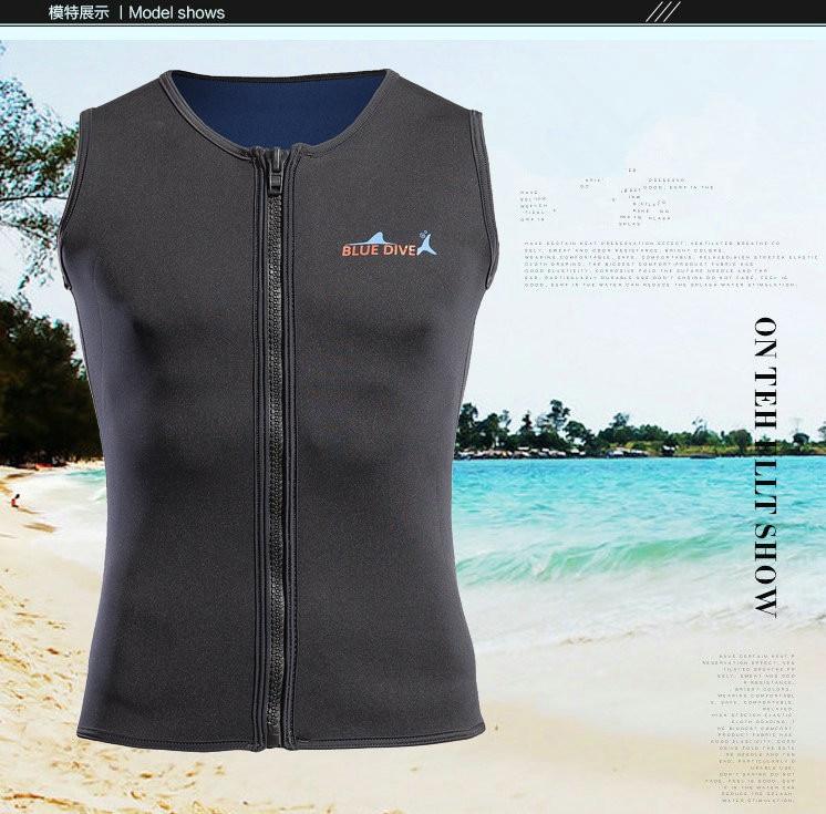 Новый стиль неопреновый жилет для Гидрокостюма + шорты для женщин 2 мм серфинг для купания костюм из двух частей для плавания Подводное плавание с длинными рукавами гидрокостюмы - 2