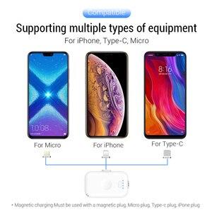 Image 4 - PZOZ 磁気電源銀行 1200 mAh 外部バッテリー充電器マグネットミニ PowerBank リチウムポリマーバッテリー iphone マイクロ usb タイプ c