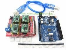 Lista del envío: 1 * escudo cnc v3 + 4 * A4988 + 4 * Disipador de Calor + 1 * UNO R3 + 1 * cable USB