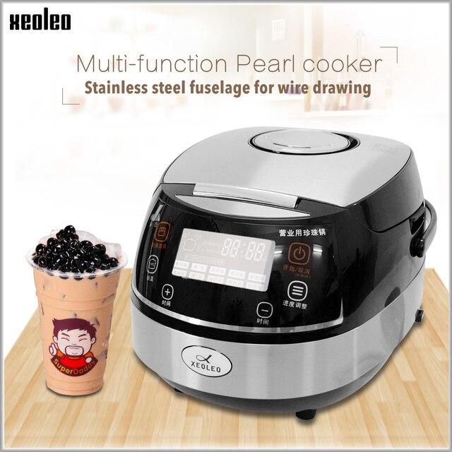 Xeoleoタピオカ真珠機バブル茶真珠調理鍋タピオカ炊飯器自動バブル茶鍋ミルクティー真珠調理ポット
