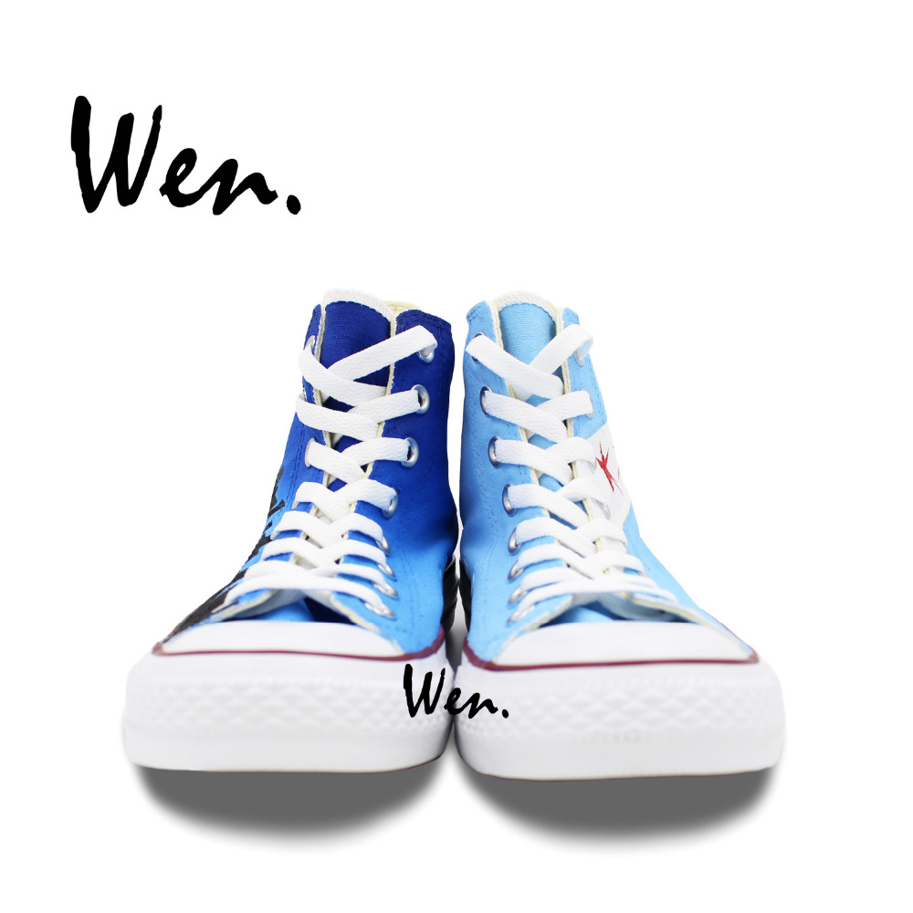 Wen dizajn Custom ručno oslikane cipele Chicago Flag City Skyline - Tenisice - Foto 4