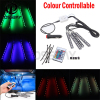 SD Wireless Remote Music Voice Control Car RGB LED Neon Interior Light Lamp Strip