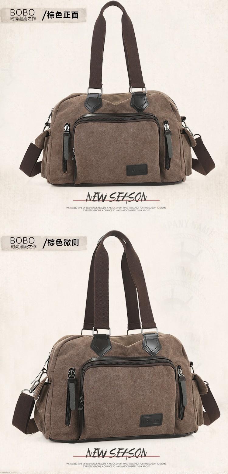2016 men\'s travel bag canvas men messenger bag brand men\'s bag vintage style briefcase,Travel Shoulder bag (17)