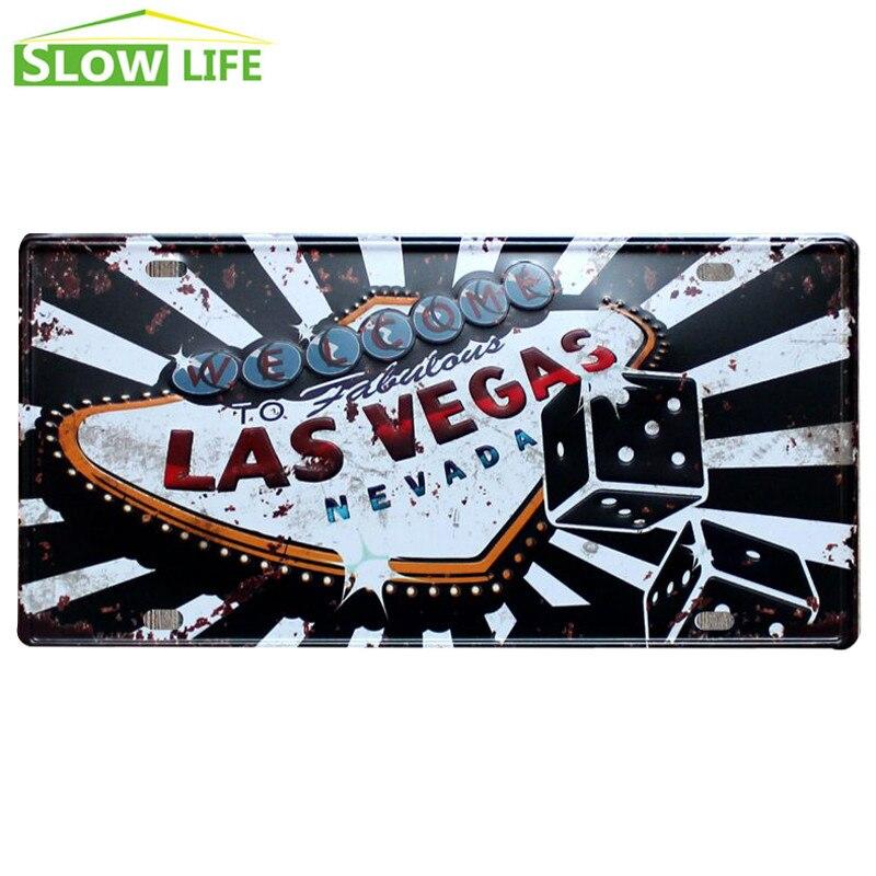 ᗑ】Bienvenido a Las Vegas coche Marcos de matrícula vintage ...