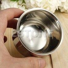Shaving brush 7.2cm Stainless Steel Metal Men's Shaving Mug Bowl Cup For Shave Brush