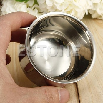 Shaving brush 7.2cm Stainless Steel Metal Men's Shaving Mug Bowl Cup For Shave Brush