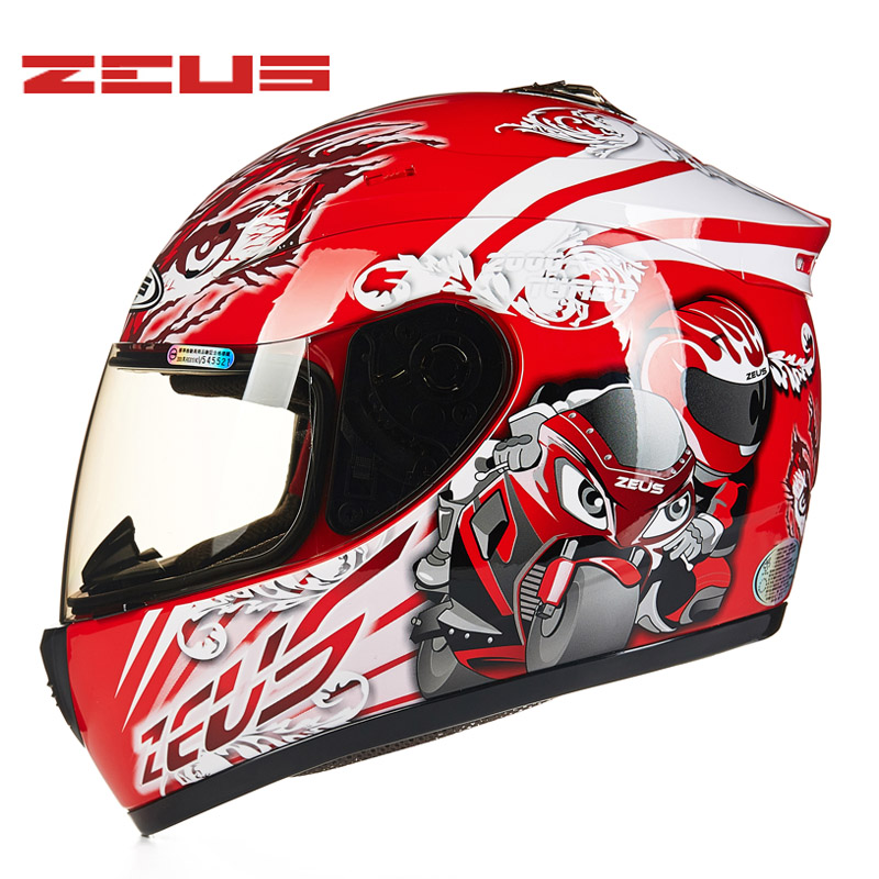 Genuine ZEUS Motorcycle Helmet Summer DOT Certification Full Face Men Winter Racing Moto Motor Bike Motocross Motorbike Helmets