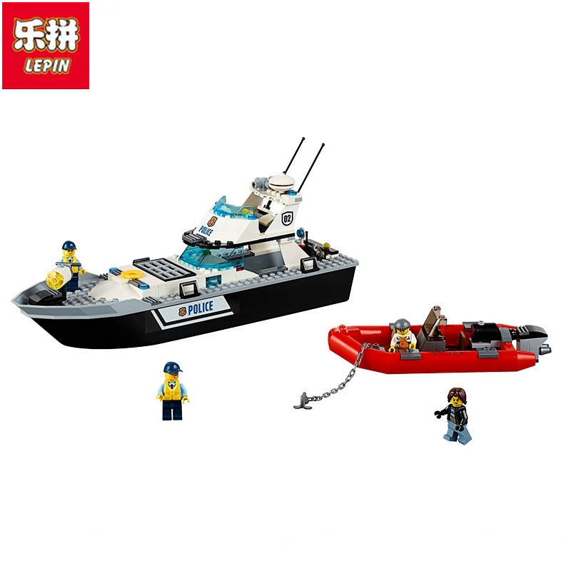 Lepin 02049 City Series Police patrol Brick Toy Boy Boats Building Blocks Toy DIY Educational Toys a toy a dream lepin 24027 city series 3 in 1 building series american style house villa building blocks 4956 brick toys