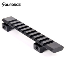 Aluminium Alloy picatinny weaver rail 10 slot dan panjang 124mm Memburu Rifle / Air Gun weaver scope memburu