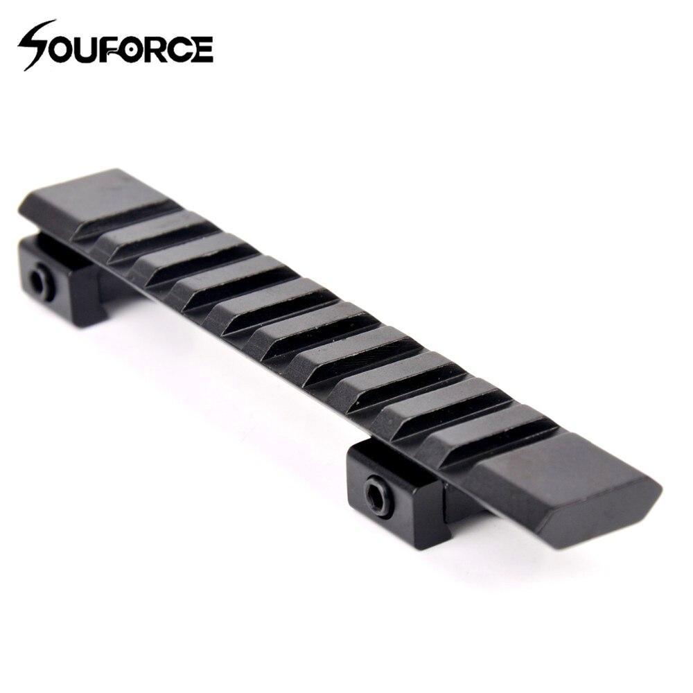 Picatinny Weaver Schiene Adapter 10 slots & 124 mm Länge Weaver Umfang Halterung Zubehör für Gewehr/Air Gun Jagd