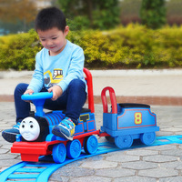 Christmas Children Electric Toy Train Baby Walker for Kids Boys Ride on Train Toy with Railway Electric Ride on Car with Tractor