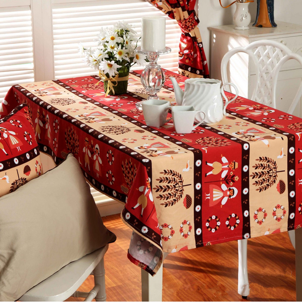 christmas tablecloths quality cotton thick square tablecloths hotel tablecloths waterproof tablecloths home textiles supplies - Square Christmas Tablecloth