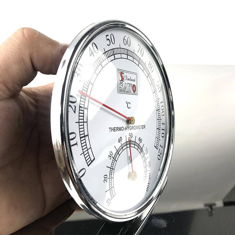 Sauna Thermometer Stainless Steel Case Steam Sauna Room Thermometer Hygrometer In The Sauna Room Accessories For SaunaStainless