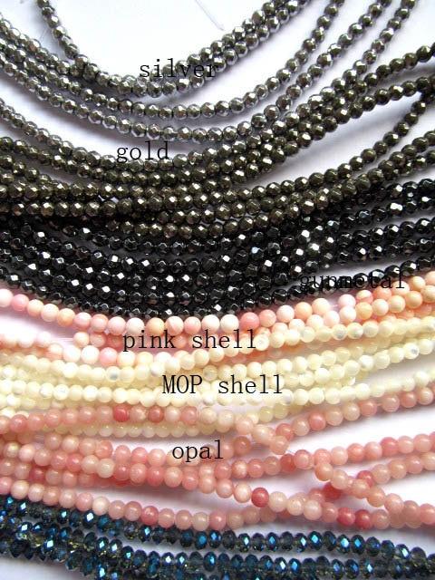 batch 50strands 4mm pyrite hematite opal pink shell MOP Shell crystal assortment round ball beads