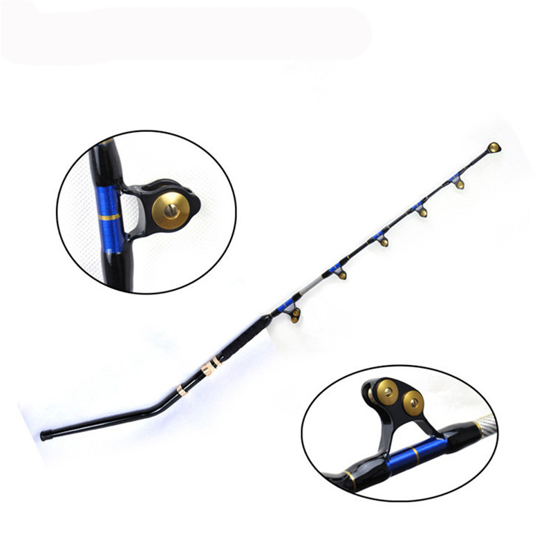 6' eliminator alu bent butt PAC BAY 5+1 rollier guide 130LBS boat fishing trolling rod bluewater carrot stix trolling pac bay guides med fast 6ft 6in