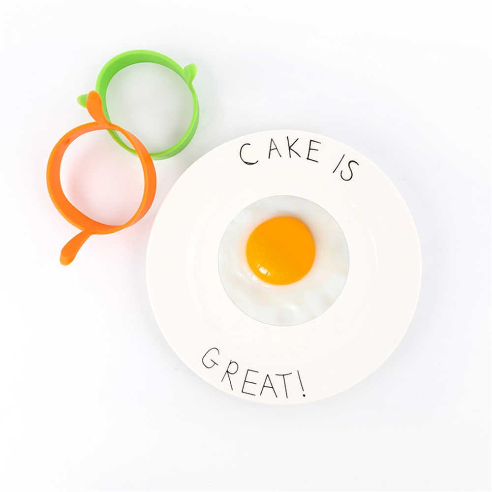 2 pçs ovo anel pequeno-almoço moldes de ovo frito silicone grau alimentício ovo panqueca cozinhar ferramentas fritar moldes de ovo gadgets cozinha