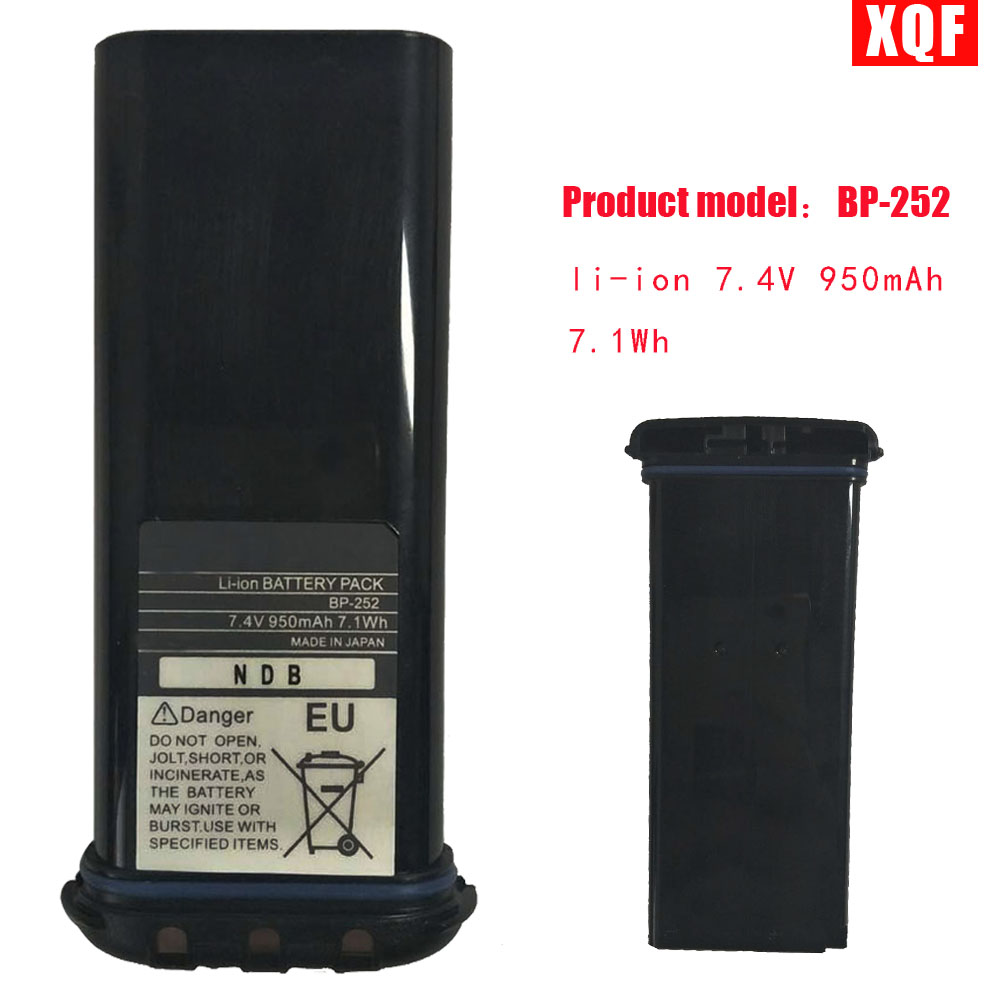 XQF  Li-ion 7.4V 950mAh 7.1Wh BATTERY For ICOM BP252 L M34 M36 REPLACES BP241 Radio