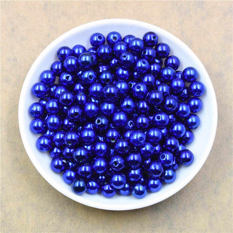 1000 pçs colorido redondo pérola grânulos 4mm para jóias marcação diy solto espaçador grânulos pulseira colar charme jóias encontrando