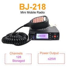 Mini mobilne Radio BAOJIE BJ 218 25W moc wyjściowa dwuzakresowy 136 174 i 400 470MHz Radio FM BJ218 Walkie Talkie