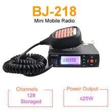 Mini rádio móvel baojie BJ 218 25w potência de saída banda dupla 136 174 & 400 470mhz rádio fm bj218 walkie talkie