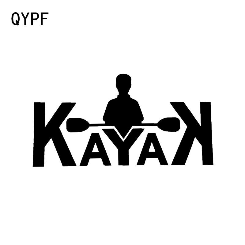 QYPF 16.1*8.4CM Canoeing River Life Silhouette Decor Car Sticker Vinyl Accessories Decals C16-1210
