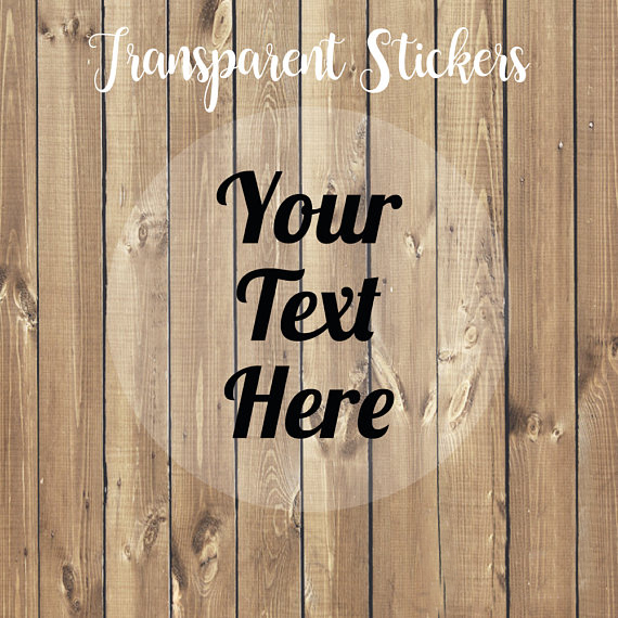 Personalized Waterproof Transparent Clear Stickers, Custom Clear Labels, Print Your Own Logo, Bespoke, Bridal Shower Label