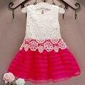 Nueva ropa de Las Muchachas 2017 vestido de verano para niños vestidos para niñas de Encaje Lindo YACODI princesa sofia vestido de marca de alta calidad embroma la ropa