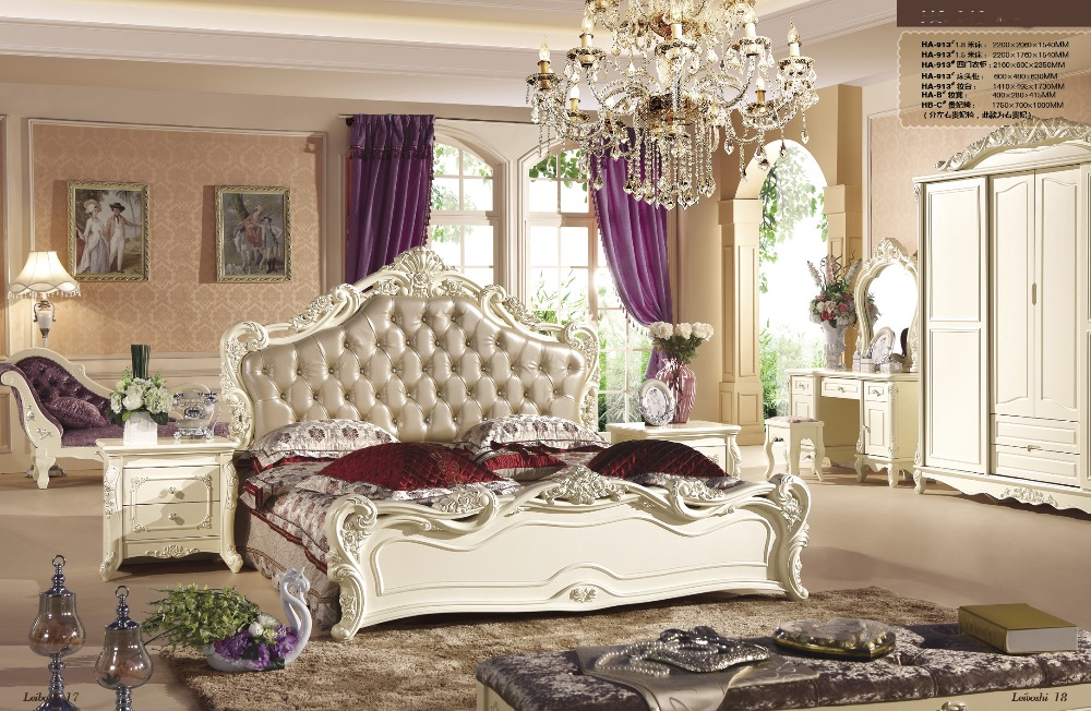 Italian noble new style Bedroom Furniture sets with 4