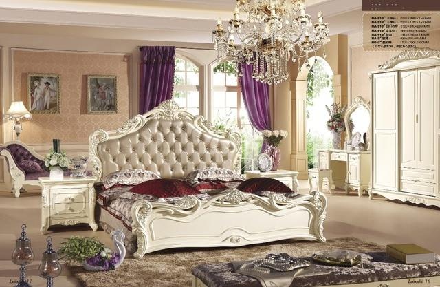 US $2680.0 |Italienische edlen neuen stil Schlafzimmer möbel sets mit 4  türen kommode, nachttisch, kommode, dressing stuhl, bett Ende Stool 021 in  ...