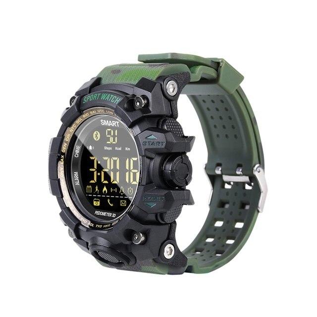 0b53f1174929 IP67 táctico impermeable reloj cronómetro Digital podómetro EX16S Digital  multifunción reloj inteligente ...