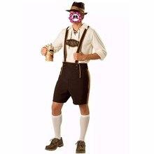 ktoberfest Carnival German Beer Maid Costume Beer Men Halloween Costume Brown Cosplay Costumes Jumpsuits For Men