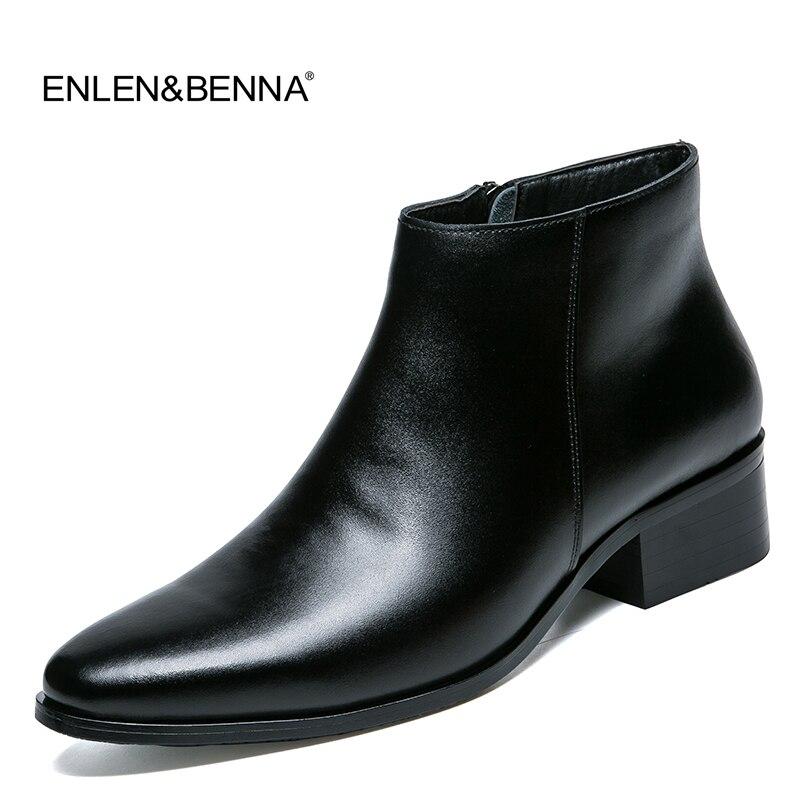 martin slittamento 2017 stile in britannico stringate pizzo moda primavera Chelsea da vera Stivali nere pelle uomo stivali caviglia inverno scarpe UXafAwqY