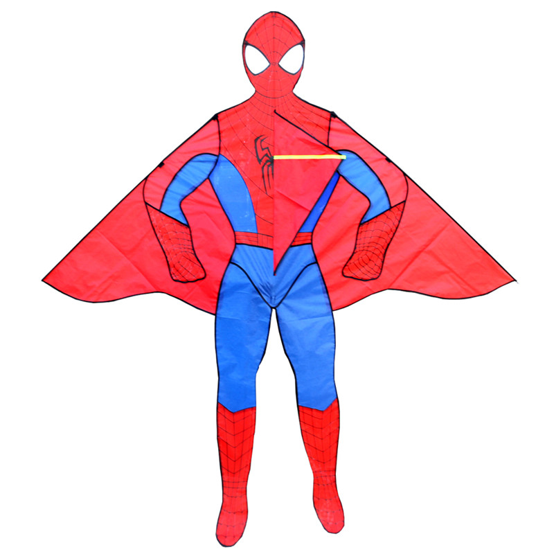 Envío gratis de alta calidad 2m cometas spiderman con línea de mango juguetes al aire libre cometa cometa niño volando pulpo rueda weifang