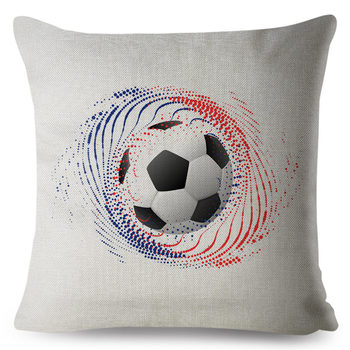 Colourful Football Pillow Cover 2