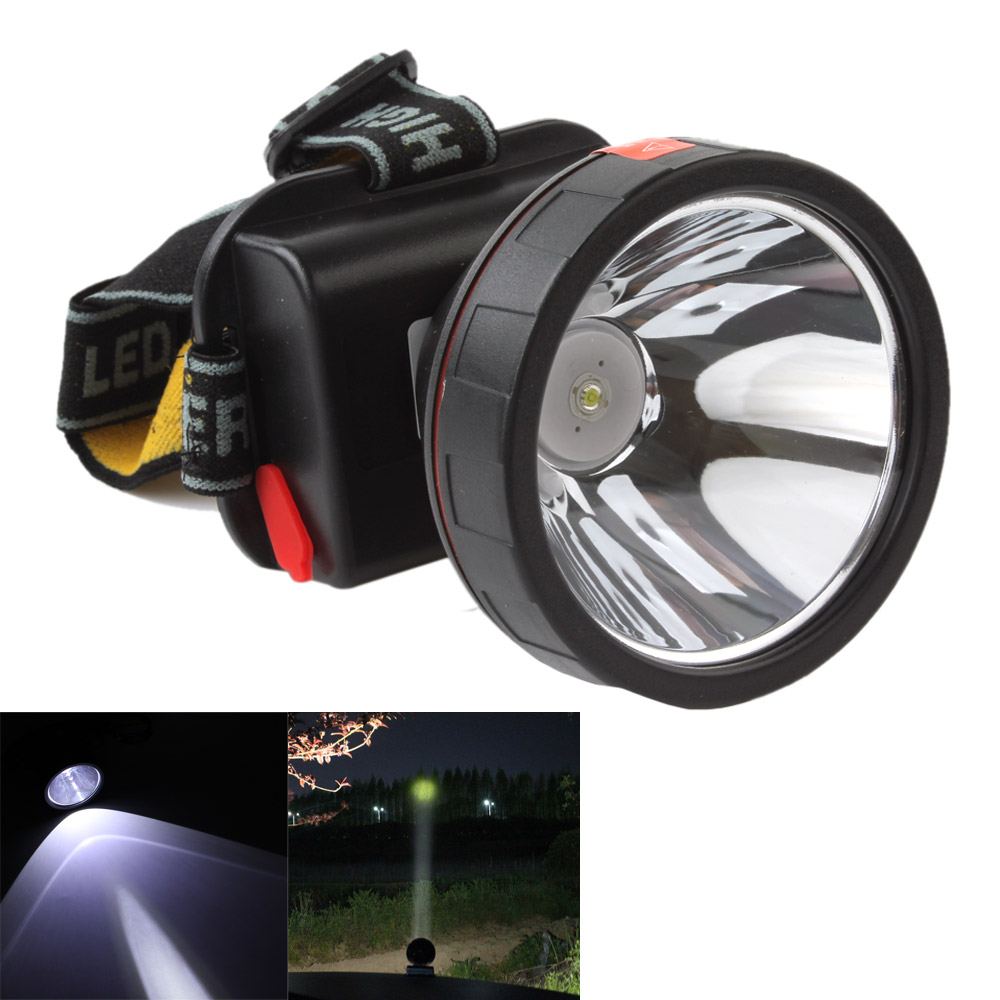 Rechargeable 3000LM LED Headlamp Headlight Adjustable Headband Outdoor Camping Head Light Lamp Torch Built-in Battery + Charger