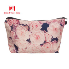 New Pink Printing Women Portable Travel Cosmetic Bag Makeup Case Pouch Toiletry Organizer Polyester Material wash easily