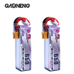2PCS Gaoneng GNB 650mAh 3S 11.4V 60C/120C HV Lipo battery XT30 Plug for FPV Racing Drone 4 axis UAV RC Helicopter RC Drone part